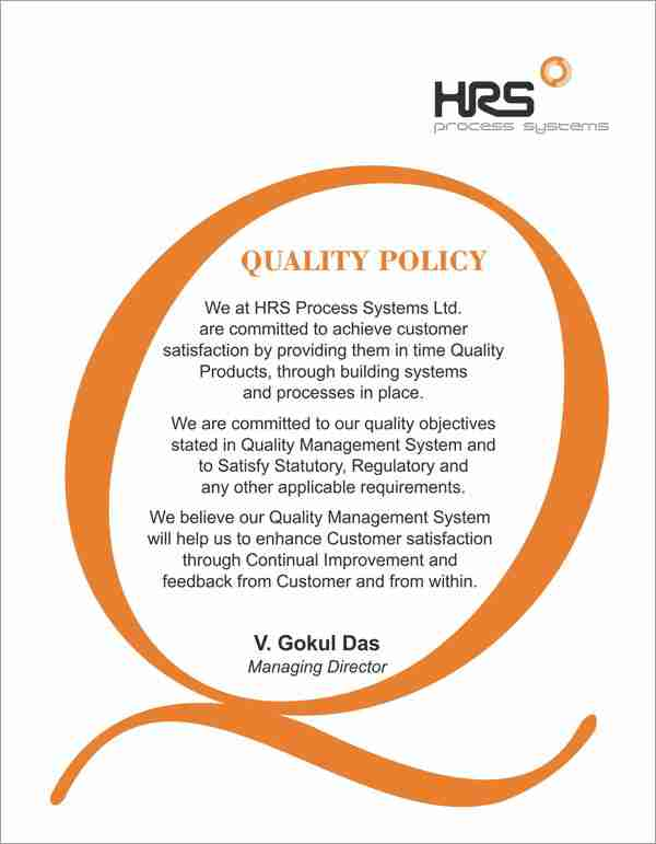 HRS Quality Policy